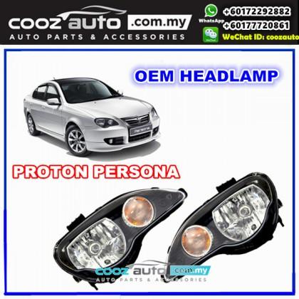Proton Persona 2010-2015 Front Left Passenger Side HeadLamp Head Lamp BLACK FACE