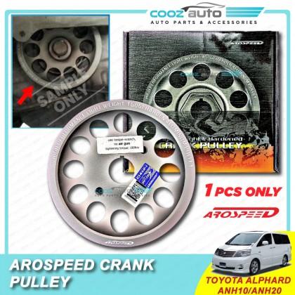 Toyota Alphard Anh10 Anh20 Arospeed Harden Lighten Light Weight Crank Pulley (T6061 Aluminium)