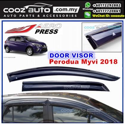 Perodua Myvi 2017 2018 Aero Wiper Style Anti UV Light Acrylic Door Visor