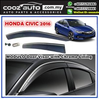 HONDA CIVIC FC 2016 Window Door Visor With Chrome Lining (MODULO)
