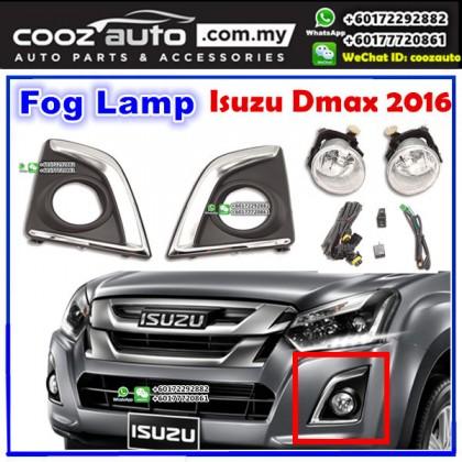 Isuzu Dmax D-Max 2016 Fog Lamp + Fog Lamp Cover (Chrome) Spot Light Kit