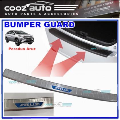 Perodua Aruz ABS Rear Bumper Guard Protector with Chrome lining