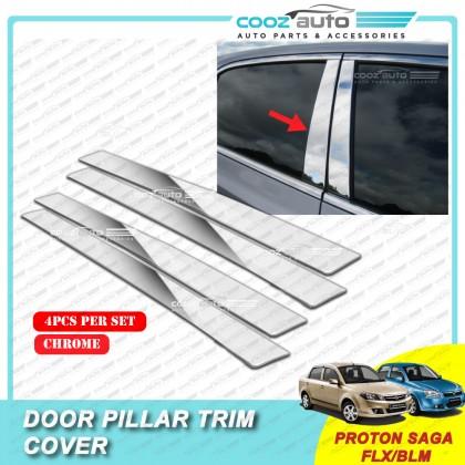 Proton Saga BLM FLX Chrome Door Window Pillar Trim Cover