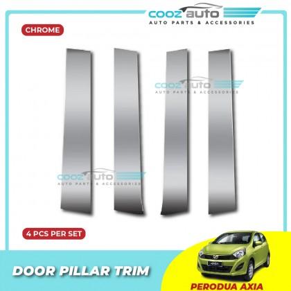 Perodua Axia Chrome Door Window Pillar Trim Cover