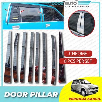 Perodua Kancil Chrome Door Window Pillar Trim Cover