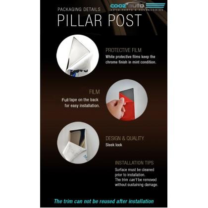Proton Satria Neo Chrome Door Window Pillar Trim Cover