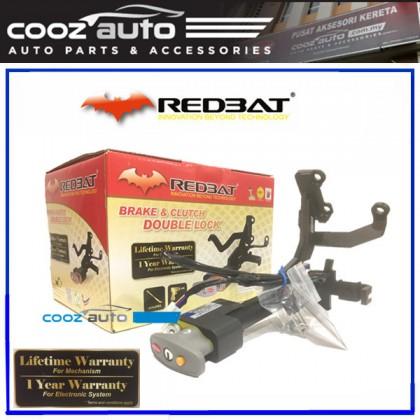 Honda City 2014-2017 (Key Start) Redbat High Security Anti Theft Double Brake Pedal Lock with Socket Immobilizer