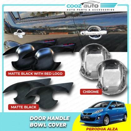 Perodua Alza Matte Black / Chrome Door Handle Inner Bowl Inserts Cover