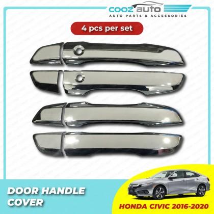 Honda Civic 2016 - 2020 Door Handle Cover Chrome Protector Guard