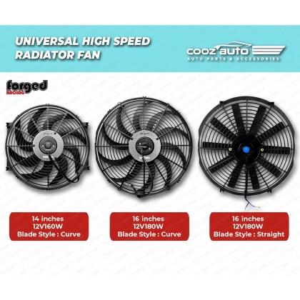 Universal Forged Racing Radiator High Speed Radiator Fan Radiator Cooling Fan Kit