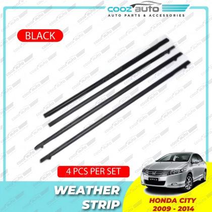 Honda City 2009 - 2013 Black Window Weather Strip (4Pcs/set)