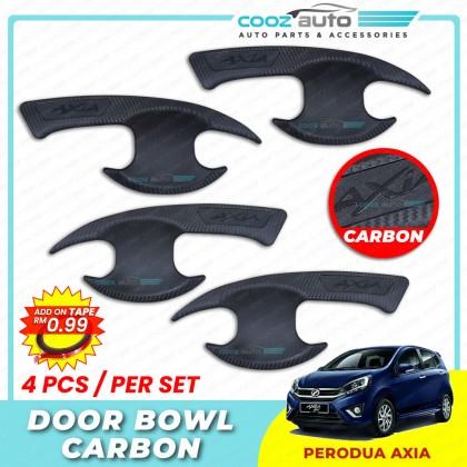 Perodua Axia Carbon Door Handle Inner Bowl Inserts Cover