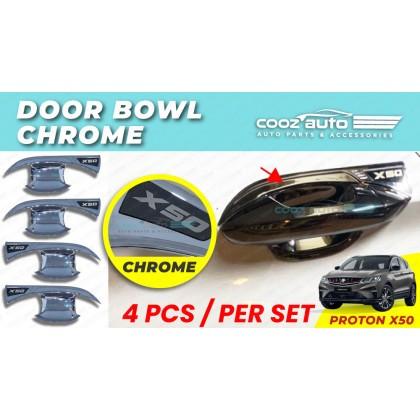 Proton X50 Door Handle Inner Bowl Chrome Black Inserts Cover