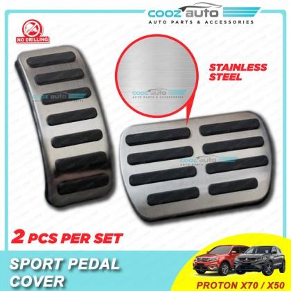 Proton X70 X50 Auto Sport Pedal Kit Cover Non Slip Stainless Steel