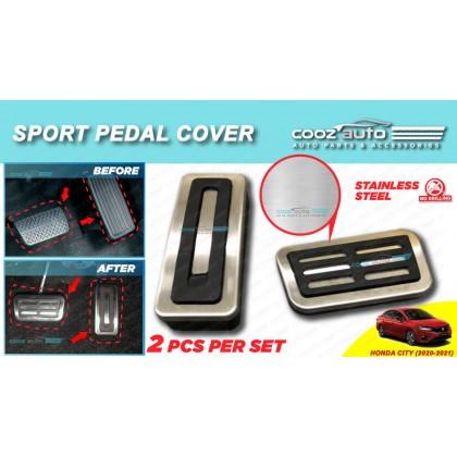 Honda City 2020 - 2021 Auto Sport Pedal Kit Cover Non Slip Stainless Steel
