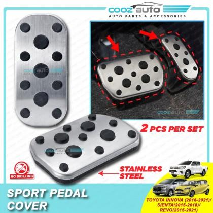 Toyota Innova 2016 - 2021 Sienta 2015 - 2018 Hilux Revo 2015 - 2021 Auto Sport Pedal Kit Cover Non Slip Stainless Steel