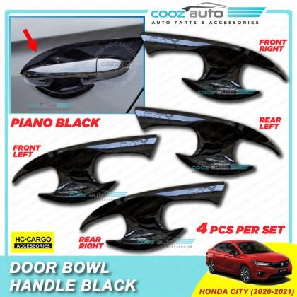 Honda City 2020 - 2021 Piano Black Door Handle Inner Bowl Inserts Cover