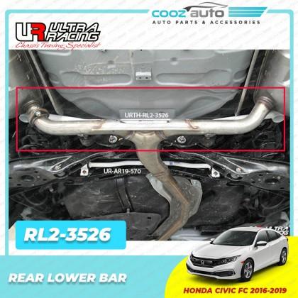 Honda Civic FC 1.5T 1.8 2016 - 2019 Ultra Racing Front Middle Rear Lower Bar Strut Bar Sway Bar Anti Roll Bar