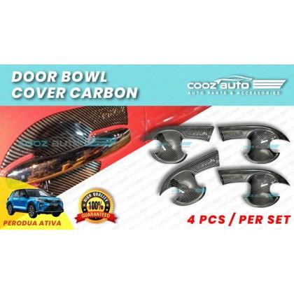 Perodua Ativa Hc Cargo Carbon Door Handle Inner Bowl Inserts Cover