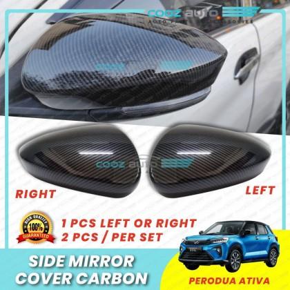 Perodua Ativa Hc Cargo Side Mirror Cover Carbon Protector Guard
