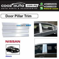Nissan Almera Chrome Door Window Pillar Trim Cover