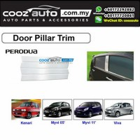 Perodua Myvi Lagi Best 2011-2015 Chrome Door Window Pillar Trim Cover