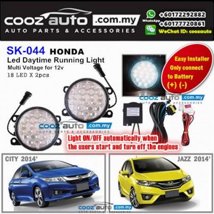 Honda Jazz 2014-2016 18 LED Daytime Running Light DRL Fog Lamp