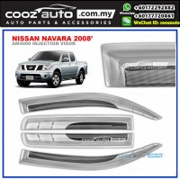 Nissan Navara 2008 Anti UV Acrylic Injection Door Visor (SIlver)