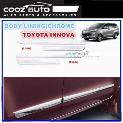 Toyota Innova 2016-2017 Chrome Side Doors Cladding Molding Trim Guard Body Moulding
