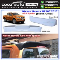 Nissan Navara NP300 2015-2017 ABS Rear Roof Spoiler (Black Color)