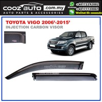 Toyota Hilux Vigo 2006-2015 Anti UV Carbon Door Visor