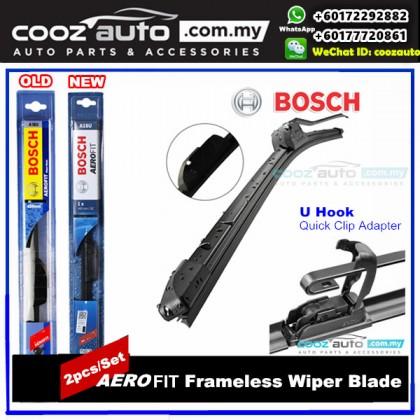HONDA ACCORD 9th GEN 2013-2016 Bosch Aerofit Frameless Flat Blade Wiper (2pcs/set)