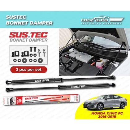 Honda Civic FC 2016 - 2018 Sustec Front Hood Damper Bonnet Gas Lifter TWIN STRUT